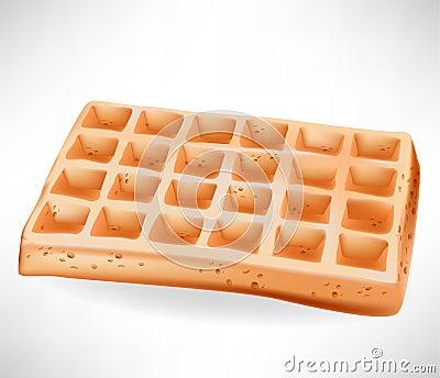 Simple belgian waffle