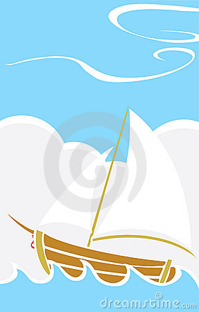 Simple Boat at Sea