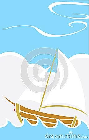 Simple Boat at Sea