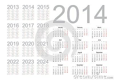 Simple calendar 2014