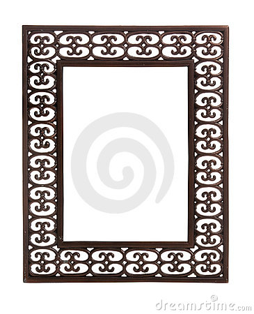 Simple cast metal picture frame