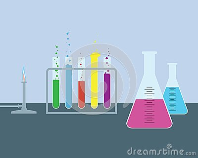 Simple chemical laboratory