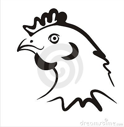 Simple chicken icon