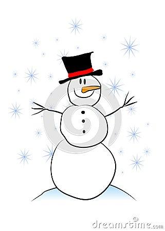Simple Childlike Snowman