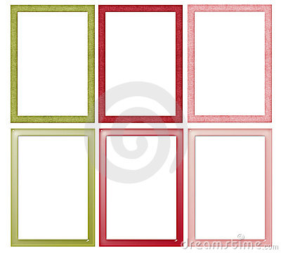 Simple Christmas Colored Frames