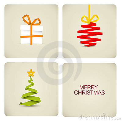 Free Simple  Christmas Decoration Made From Paper Royalty Free Stock Photography - 21714497