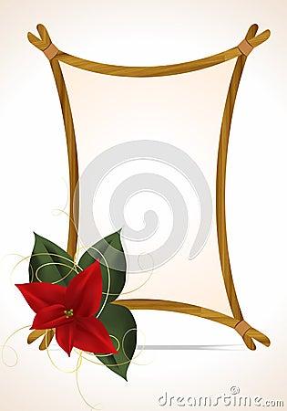 Simple Christmas frame, cdr vector