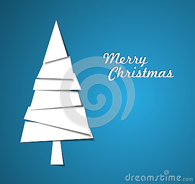 Simple  christmas tree illustration