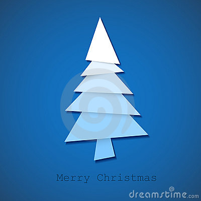 Simple  christmas tree made from paper