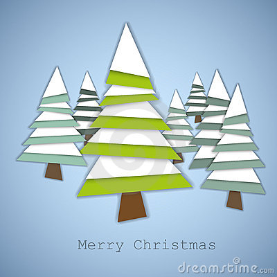 Simple  christmas trees