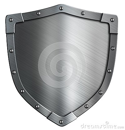 Free Simple Coat Of Arms Metal Shield Isolated Stock Images - 48589364
