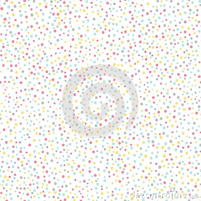 Simple confetti background. Pastel seamless pattern. Vector Illustration