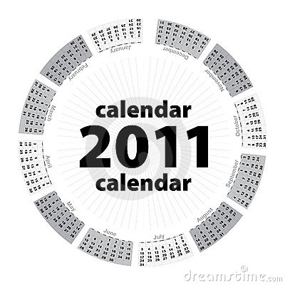 Simple creative calendar of 2011