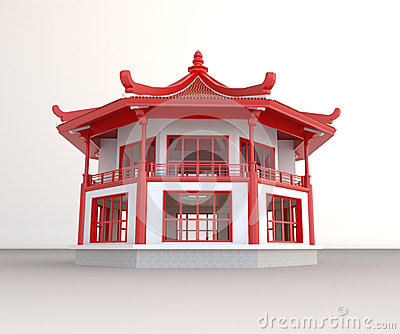 Simple 3D Chinese pavilion