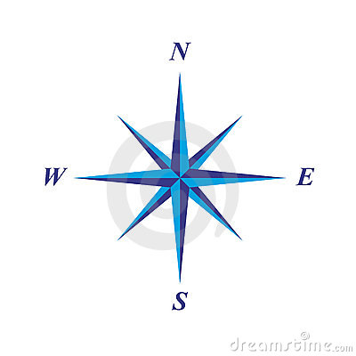 Simple Elegant Compass Rose Stock Photos - Image: 3773993