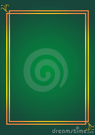 Simple elegant frame on green