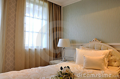 Simple and elegant interior of bedroom