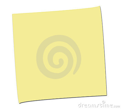 SIMPLE EMPTY POST IT NOTE