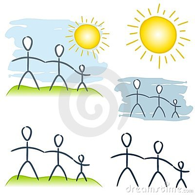 Simple Family Unit Clip Art