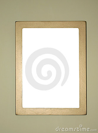 Simple gold-plated frame, ready to fill in