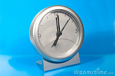 Simple gray desk clock