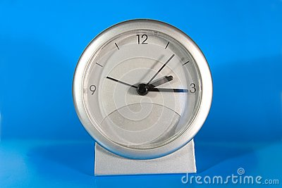 Simple gray desk clock