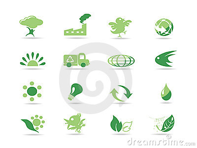 Simple green eco icons