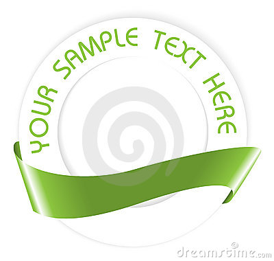 Free Simple Green Empty Seal Or Medallion Royalty Free Stock Images - 11102659