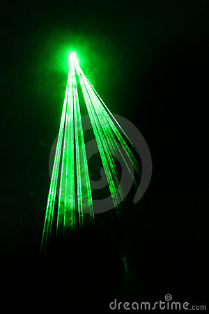 Simple Green Laser Beam