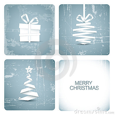 Free Simple  Grunge Christmas Card Royalty Free Stock Photos - 22333498