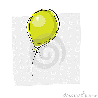Simple handdrawn baloon