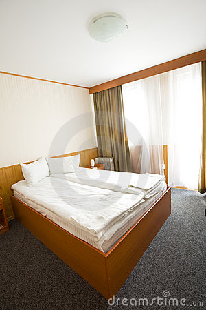 Simple hotel or motel room
