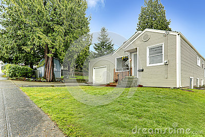 View of entrance porch and front yard stock photo image 42926091