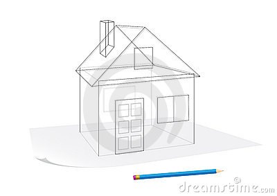 Super Simple House Sketch Royalty Free Stock Photo Image 12911715 Largest Home Design Picture Inspirations Pitcheantrous