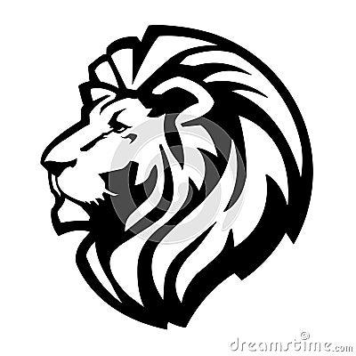 Simple lion head clipart - photo#32