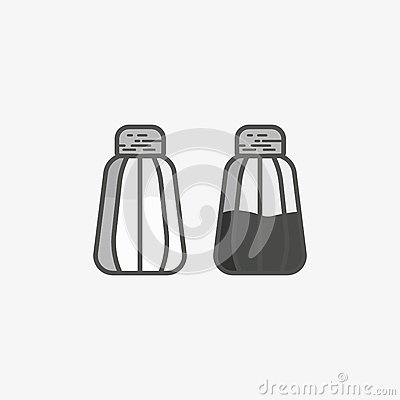 Free Simple Icon Of Salt Cellar And Pepper Pot Royalty Free Stock Photo - 83793665