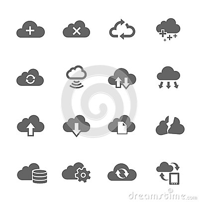 Free Simple Icon Set Related To Computing Cloud Stock Photos - 33457423
