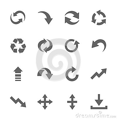 Free Simple Icon Set Related To Interface Arrows Stock Photography - 33457212