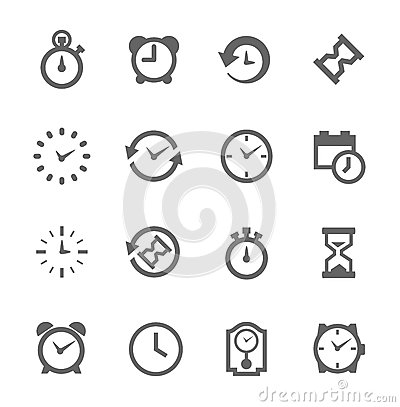 Free Simple Icon Set Related To Time Royalty Free Stock Images - 38147339