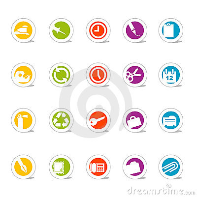 Simple Icons Office (vector)