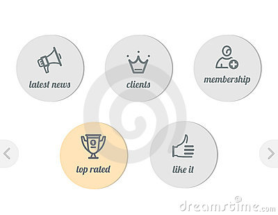 Simple icons for web