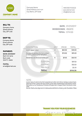 download invoice template thank you for your business   rabitah, Invoice examples