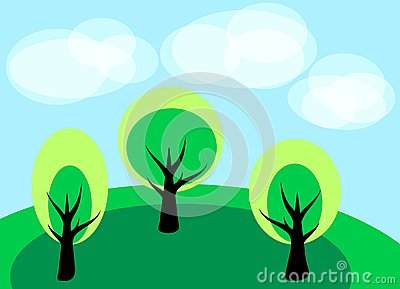 Simple landscape