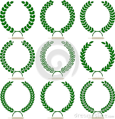 Simple laurel wreath set