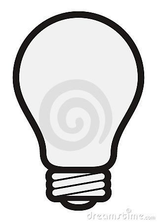 Free Simple Light Bulb Royalty Free Stock Photo - 10605755