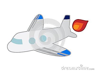 Simple line art airplane
