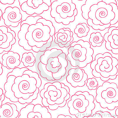 Simple line roses