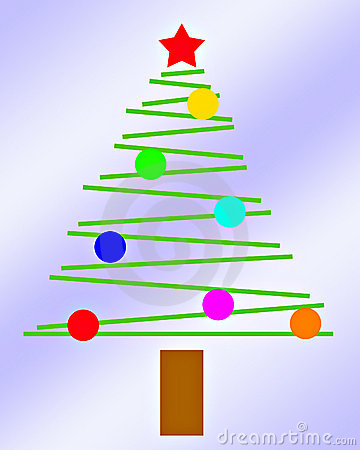 Simple Little Christmas Tree With Light Blue Background