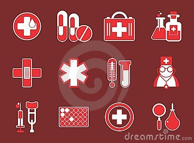 Simple medical icons Editorial Photography