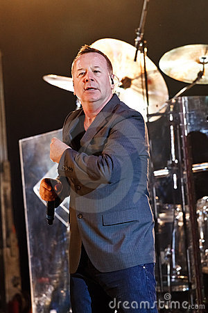 Simple Minds - Belgrade BeerFest 2011. Editorial Stock Photo